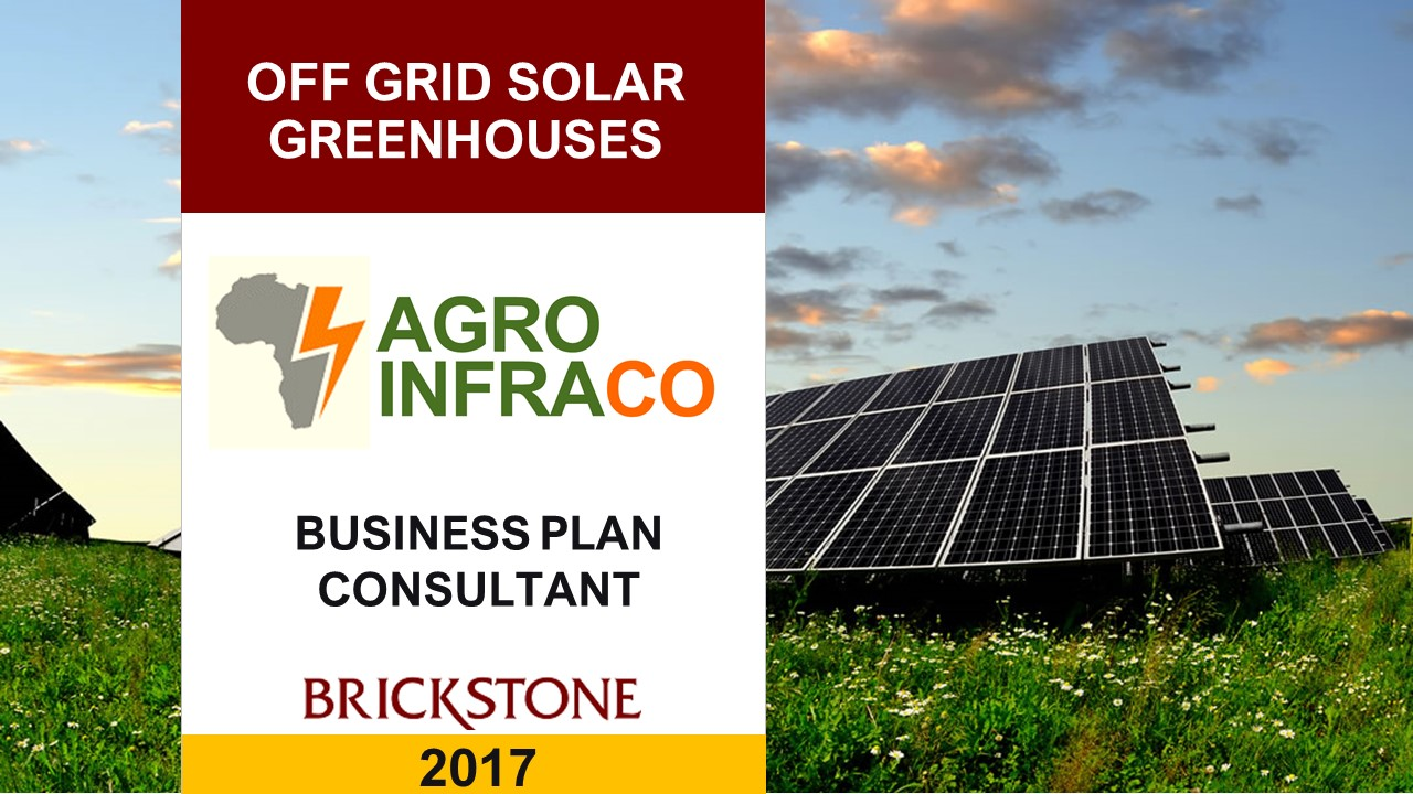 Off-grid PV Solar Power for Greenhouses